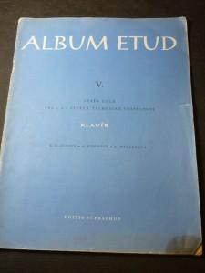 náhled knihy - Album etud. V. klavír : výběr etud pro 6. a 7. stupeň technické vyspělosti
