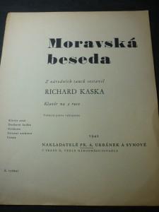 náhled knihy - Moravská beseda klavír na 2 ruce