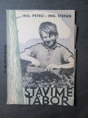 náhled knihy - Stavíme tábor : Příruč. pro budovatelské tábory 1950 : Pro letní rekreaci mládeže do 15 let