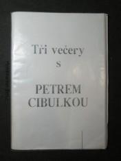 náhled knihy - Tři večery s Petrem Cibulkou