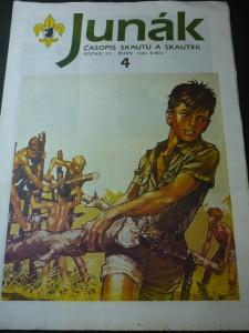 náhled knihy - Junák:časopis skautů a skautek číslo 4,ročník 33