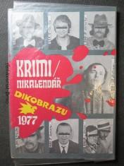 náhled knihy - Krimi/ nikalendář Dikobrazu 1977