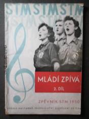 náhled knihy - Mládí zpívá 2. díl. Zpěvník STM 1950