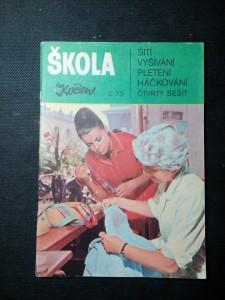 náhled knihy - Škola šití, vyšívání, pletení, háčkování, 4. sešit