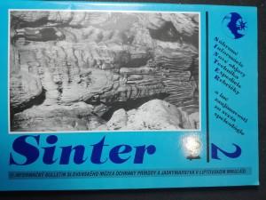 náhled knihy - Sinter  2/94 - Informačný bulletin Slovenského múzea ochrany prírody a jaskyniarstva v Liptovskom Mikuláši