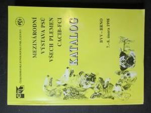 náhled knihy - Mezinárodní výstava psů všech plemen CACIB-FCI. Katalog. BVV - Brno 7. - 8. února 1998