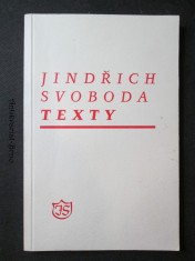 náhled knihy - Jindřich Svoboda. Texty