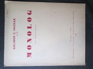 náhled knihy - Monolog pro sólové housle, Op. 28
