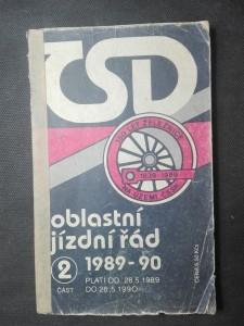 náhled knihy - Oblastní jízdní řád ČSD, část 2.