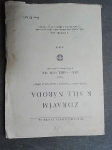 náhled knihy - Zdravím k síle národa. Výběr statí uveřejněných v letech 1911 až 1929