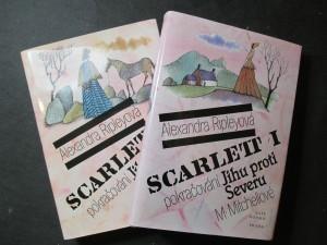náhled knihy - Scarlett I. a II. díl. Pokračování Jihu proti severu M. Mitchellové
