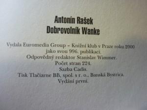 náhled knihy - Dobrovolník Wanke