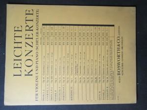 náhled knihy - Leichte konzerte fur violine und piano