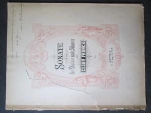 náhled knihy - Sonate A dur fur Violine und klavier