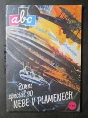náhled knihy - ABC mladých techniků a přírodovědců. Zimní speciál 90. Nebe v plamenech