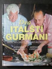 náhled knihy - Dva italští gurmáni : báječné chutě italské kuchyně