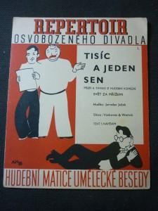 náhled knihy - tisíc a jeden sen píseň a tango z hudební komedie ,,svět za mřížemi''