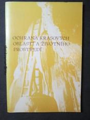 náhled knihy - Ochrana krasových oblastí a životního prostředí