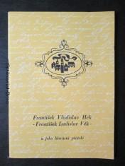 náhled knihy - František Vladislav Hek a jeho literární přátelé