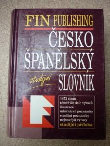 náhled knihy - Česko-španělský slovník Česko-španělský studijní slovní