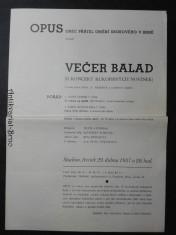 náhled knihy - Večer balad (II. koncert rukopisných novinek)