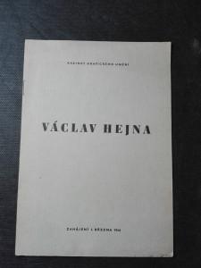 náhled knihy - Václav Hejna - Akvarely, kresby inkoustem a tuší, kvaše. Zahájení 1. března 1946