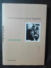 náhled knihy - České rozhovory Jiřího Lederera po dvaceti pěti letech