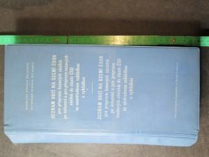 náhled knihy - Seznam obcí na území ČSSR pro přepravu kusových zásilek po železnici a pro přepravu vozových zásilek do stanic ČSD se soustředěnou nákladkou a výkladkou