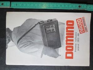 náhled knihy - Domino. Přenosný rozhlasový prijímač 2832 AB Návod