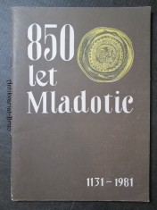 náhled knihy - 850 let Mladotic. 1141 - 1981