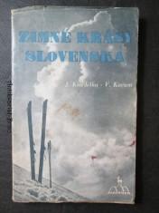náhled knihy - Zimné krásy Slovenska : Orientačný lyžiarský sprievodca