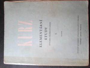 náhled knihy - Elementární etudy I. piano