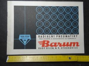 náhled knihy - Barum. Radiální pneumatiky pro osobní a dodávkové automobily.
