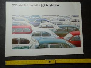 náhled knihy - VW - přehled modelů a jejich vybavení. VW 1200, 1300, 1500, 1600, 411, Mikrobus, Camping