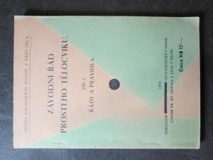 náhled knihy - Závodní řád prostého tělocviku. Díl I. Řády a pravidla