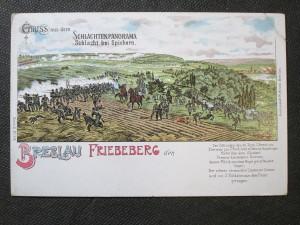 náhled knihy - BRESLAU Gruss aus dem Schlachtenpanorama. Schlacht bei Spichern. Breslau Friebeberg den. Serie II. No 518