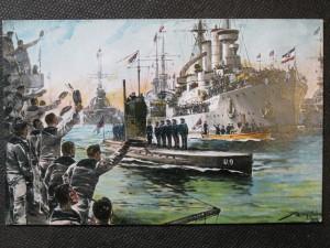 náhled knihy - Jubelne Begüßung des Unterseebootes U9 bei seiner Rückkehr nach Wilhelmshaven am 23. Sept. 1914