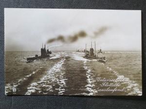 náhled knihy - Unterseeboot Flottille auslaufend