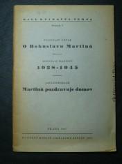náhled knihy - O Bohuslavu Martinů