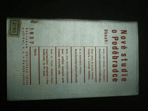 náhled knihy - Nové studie o Poděbradce