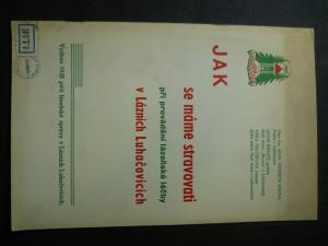 náhled knihy - Jak se máme stravovati při provádění lázeňské léčby v lázních Luhačovicích