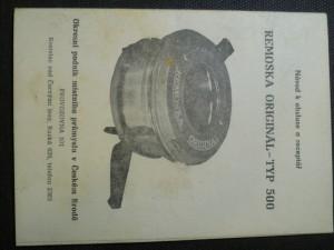 náhled knihy - Návod k obsluze a receptář - Remoska originál - typ 500