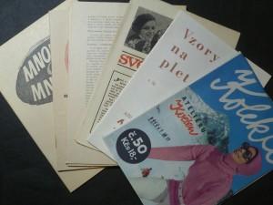 náhled knihy - Kolekce ateliéru Květen č. 50, Vzory na pletení, Různé doplněnky, Textová část k modelům na pletení, háčkování a šití, Mnohé o mnohém