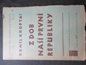 náhled knihy - Z dob naší První republiky. Ročník XXXIII. Sešit 6 - 7