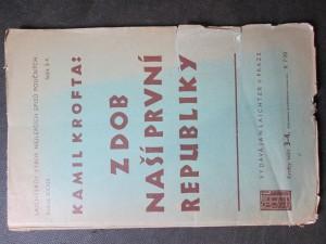 náhled knihy - Z dob naší První republiky. Ročník XXXIII. Sešit 3 - 4