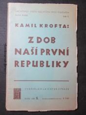 náhled knihy - Z dob naší První republiky. Ročník XXXIII. Sešit 5.