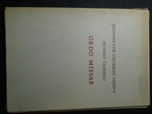náhled knihy - Jednoduché chorální nápěvy nového českého Ordo Missae