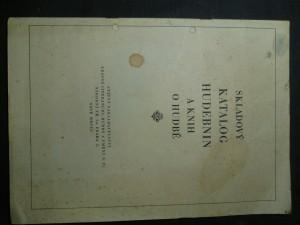 náhled knihy - Skladový katalog hudebnin a knih o hudbě