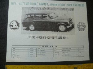 náhled knihy - Š 1202  - osobní dodávkový automobil škoda