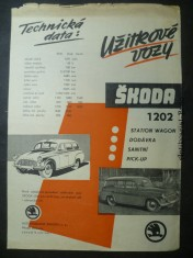 náhled knihy - Škoda 1202 - užitkové vozy (station vagon, dodávka, sanitní, pick-up)